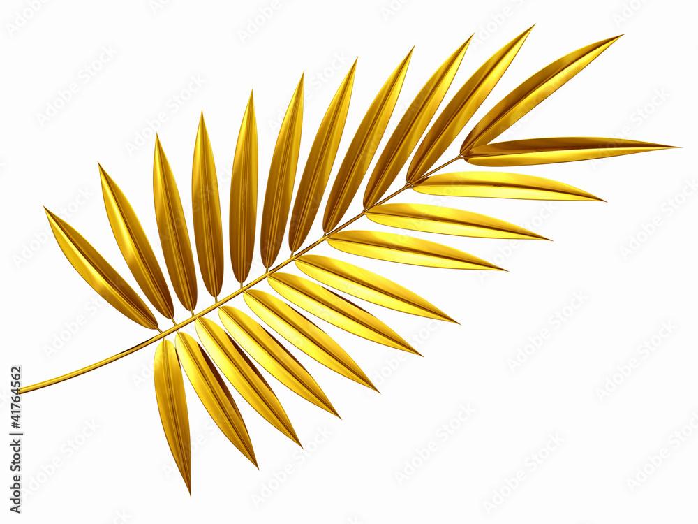 Fototapety, obrazy: golden palm frond