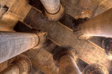 Magnificent Columns In Khnum Temple, Egypt