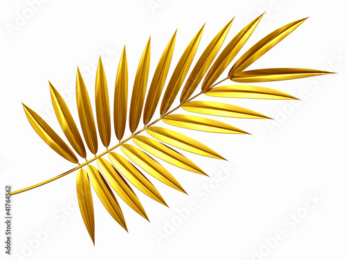 golden palm frond Wallpaper Mural