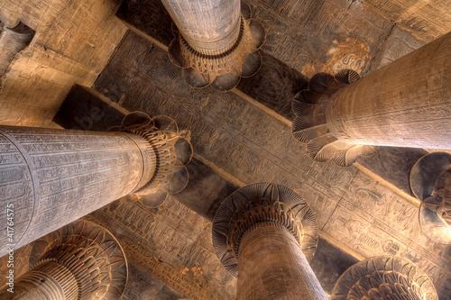 Tuinposter Egypte Magnificent columns in Khnum temple, Egypt