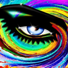 FototapetaOcchio Ipnotico Psichedelico-Hypnotic Psychedelic Girl's Eye