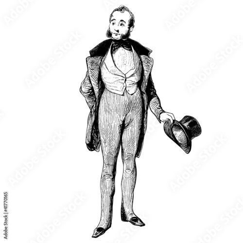 Photographie  Homme de 1840