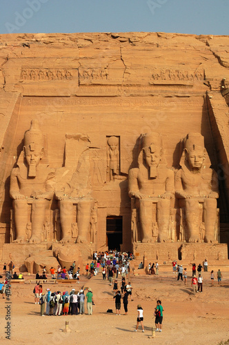 Photo  Landmark of the famous Ramses II at Abu Simbel in Egypt