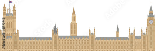 Fotografie, Obraz  Palace of Westminster Illustration