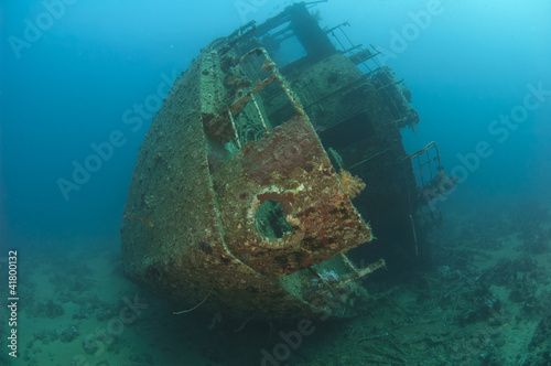 Photo Stands Shipwreck Stern section of a shipwreck