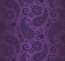 Paisley Floral Pattern, Textil...