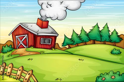 Fotobehang Boerderij Farm