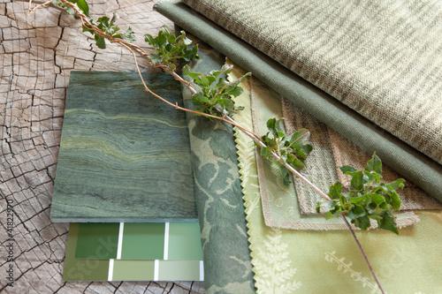 Green interior design plan