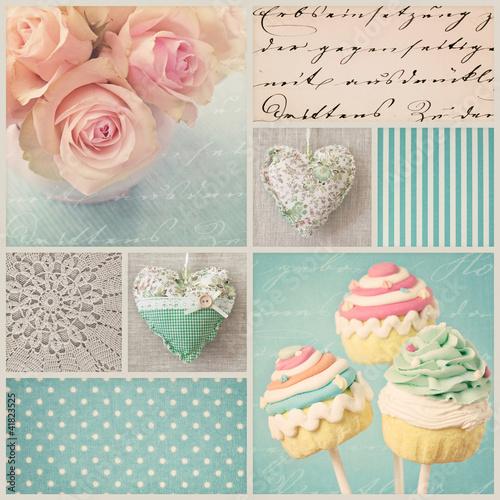 Foto op Plexiglas Retro Vintage collage