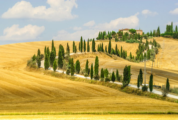 FototapetaOld farm in Val d'Orcia (Tuscany)