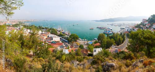 Tematy plakatów panoramiczny-widok-z-nadmorskiego-kurortu-fethiye-turcja