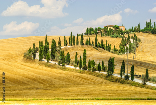 Photo sur Toile Toscane Old farm in Val d'Orcia (Tuscany)
