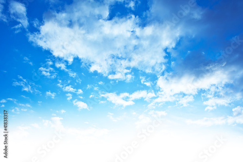 Photo  Blue sky background border