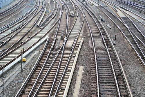 Foto op Aluminium Spoorlijn Eisenbahnschienen