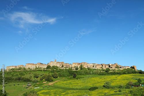 Photo  landscape with borgo Casole d'Elsa, Tuscany, Italy, Europe