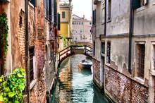 Quaint Canal In Historic Venic...