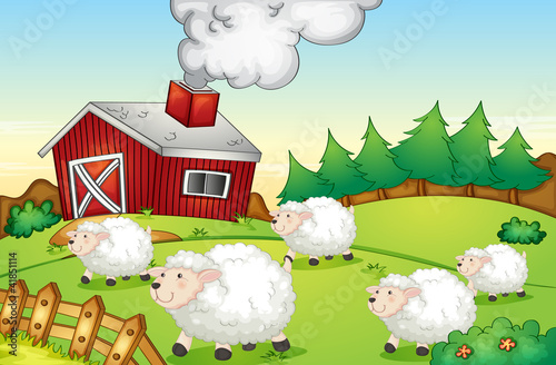 Poster Ranch Farm scene
