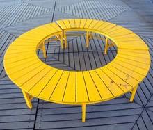 Yellow Circular Bench