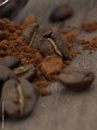 Foto op Canvas Klaprozen coffee beans