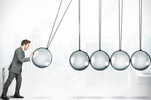 Fototapeta Business challenge concept