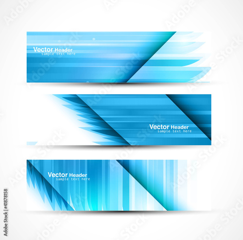 Fototapeta abstract new wave header vector set illustration obraz