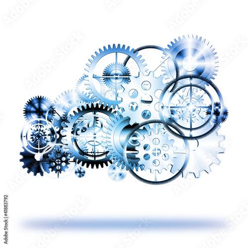 Photo  cloud made by gears wheels