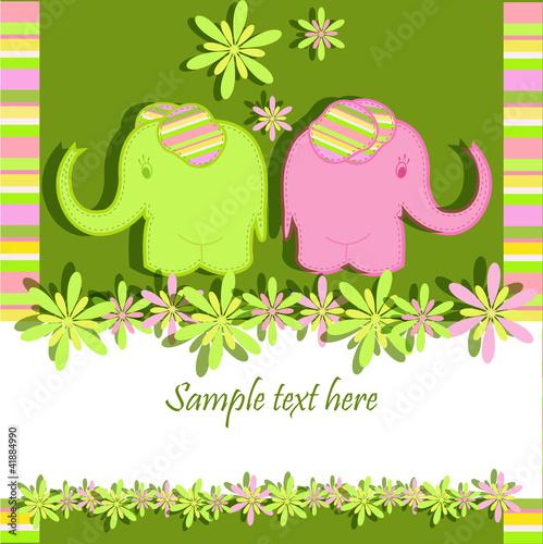 Cadres-photo bureau Hibou Funny elephants