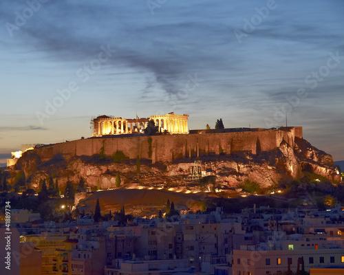 Printed kitchen splashbacks Athens Acropolis illuminated, Athens Greece