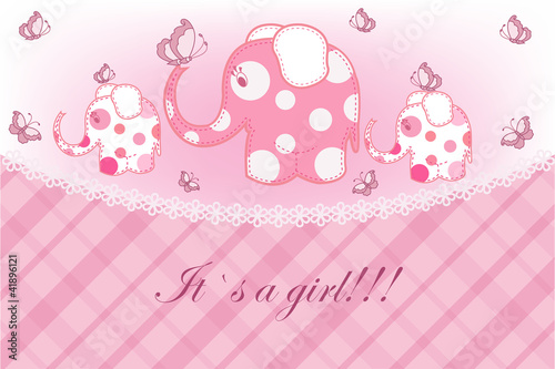 Photo sur Toile Hibou Beautiful childrens card for the girl