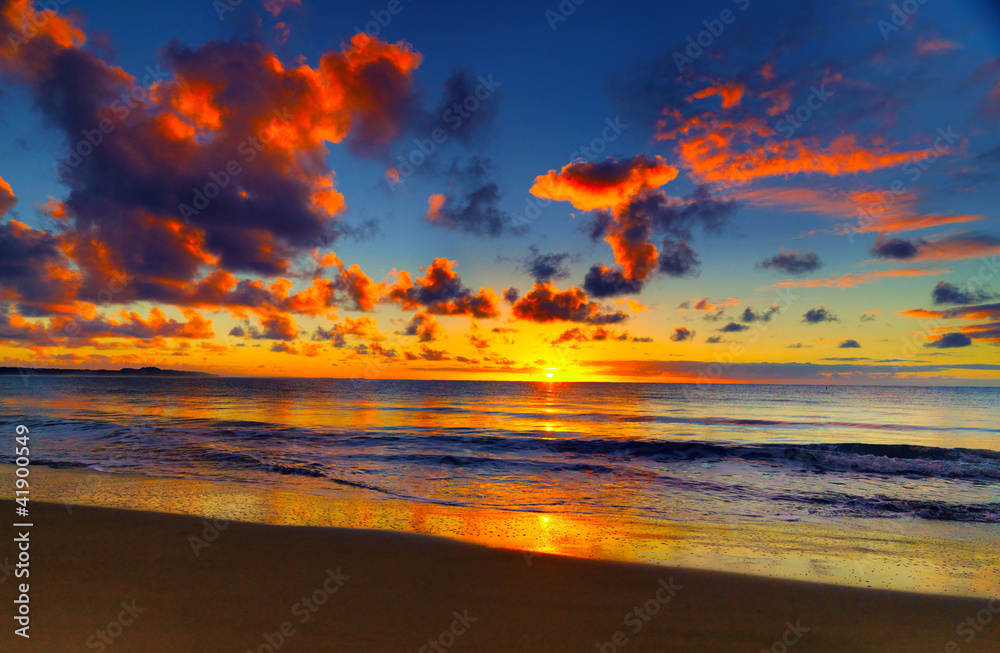Fototapety, obrazy: Beautiful tropical sunset on the beach