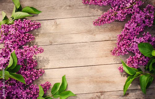 Recess Fitting Lilac The beautiful lilac on a wooden background