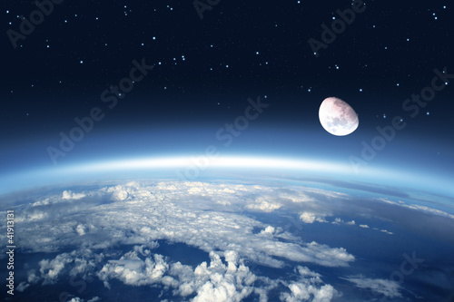 Fotobehang Volle maan Atmosphäre