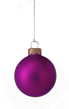 Single Purple Christmas Bauble
