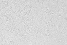 Fragment Of White Plastered Wa...