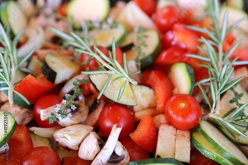 In de dag Buffet, Bar Frisches Gemüse