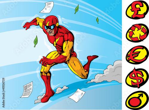 Staande foto Superheroes Super speedster