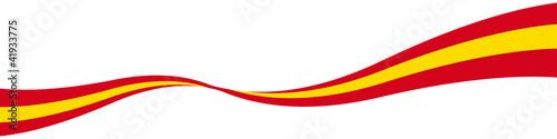 Spanien Nationalfarben Welle Schwunglinie Band mit QxP9 Datei