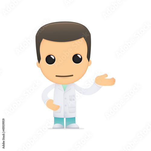 Fotografie, Obraz  funny cartoon doctor