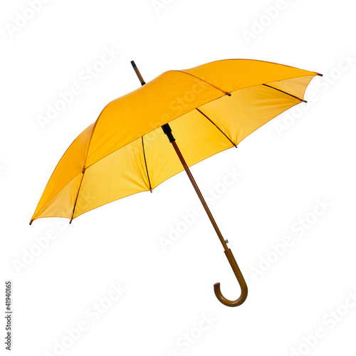 Opened yellow umbrella