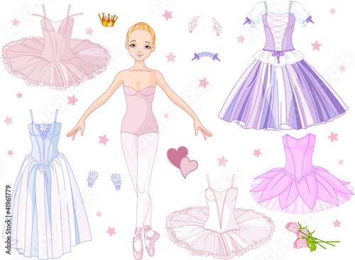Printed kitchen splashbacks Fairytale World Ballerina with costumes