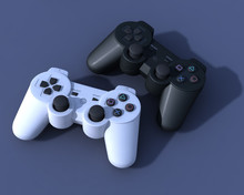 Two 3D Ps3 Controllers