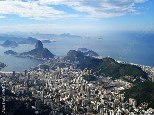 Fotografie, Obraz  La baie de Rio, le Pain de Sucre et Copacabana - Brésil