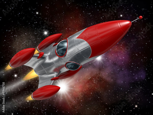 Cadres-photo bureau Cosmos Space rocket