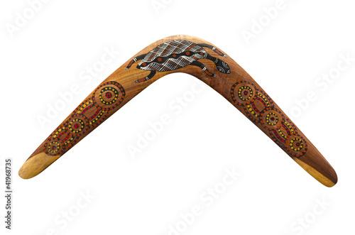 Photo  Australischer Bumerang aus Holz (wooden Boomerang)