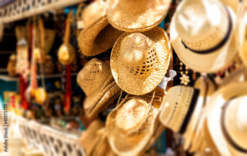 Photo Stands Caribbean Touristic street market selling souvenirs in Cuba