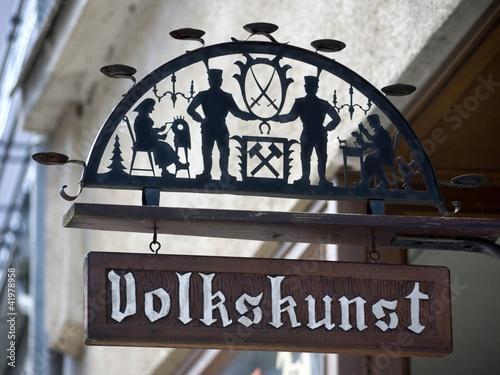 Fotografering  Schild-Volkskunst