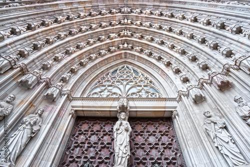 Fototapeta na wymiar Santa Maria del Mar, Barcelona.