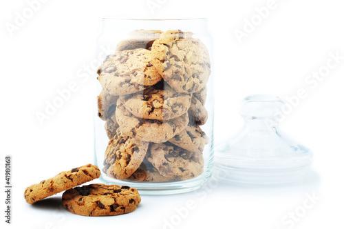 Glass jar with cookie Fototapete