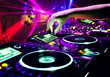 canvas print picture - Dj mixes the track