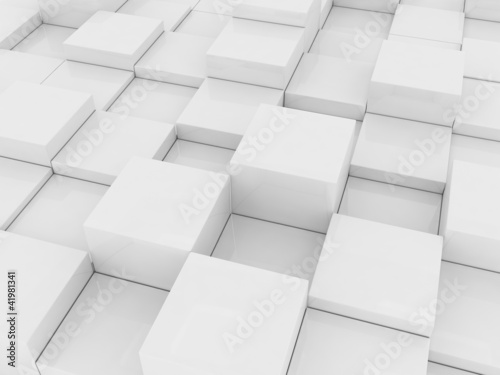 gray cubes #41981341